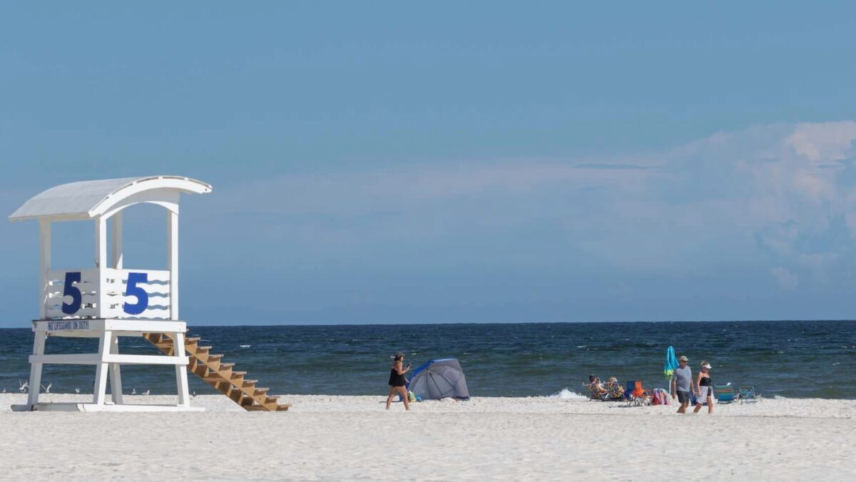 people at the beach - Gulf Shores Alabama