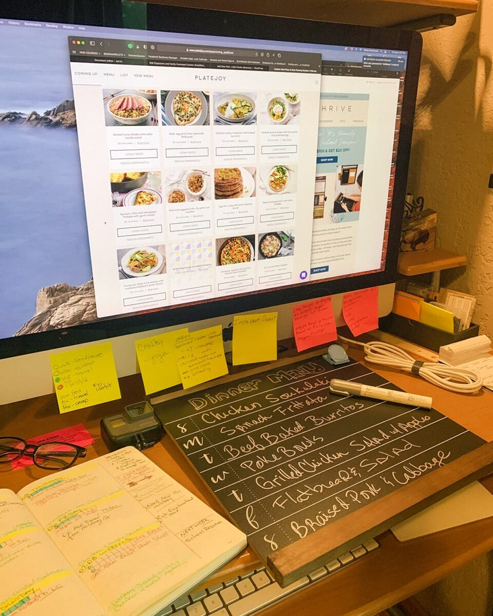online meal planning and menu