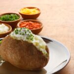 baked potato with topping
