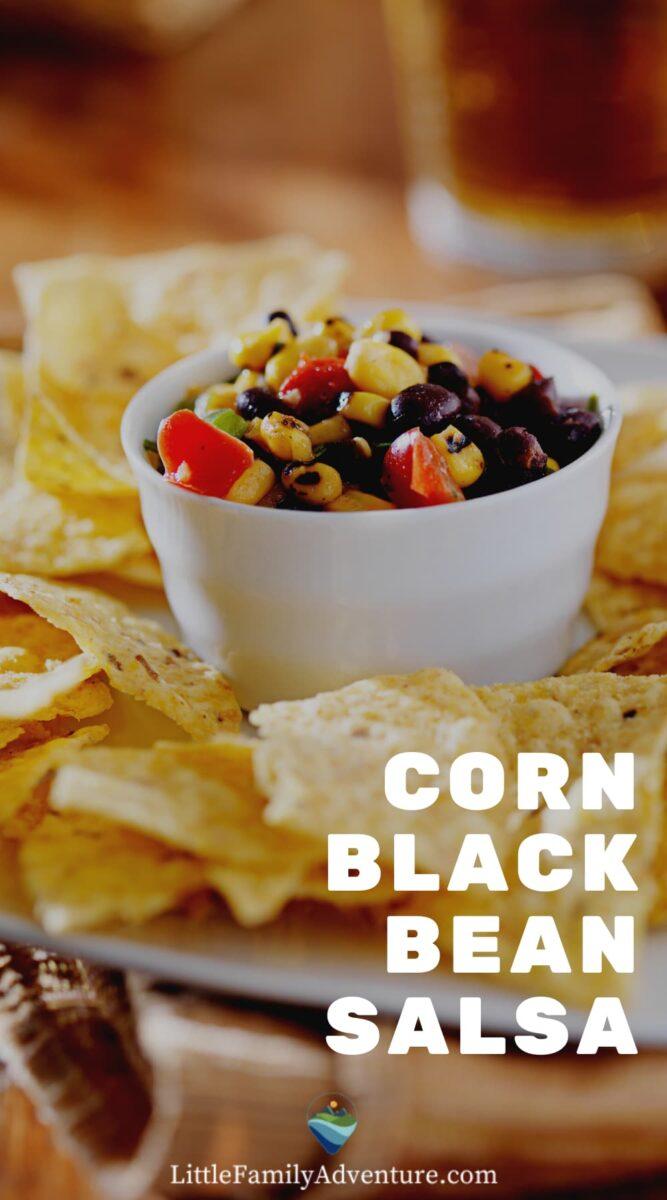 corn black bean salsa and chips