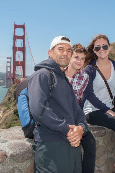 family travel golden gate bridge